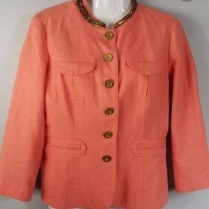 Micheal Kors Women Linen Blend Jacket